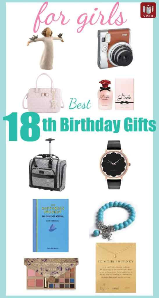 18Th Birthday Gift Ideas For Girl  Best 18th Birthday Gifts for Girls Vivid s