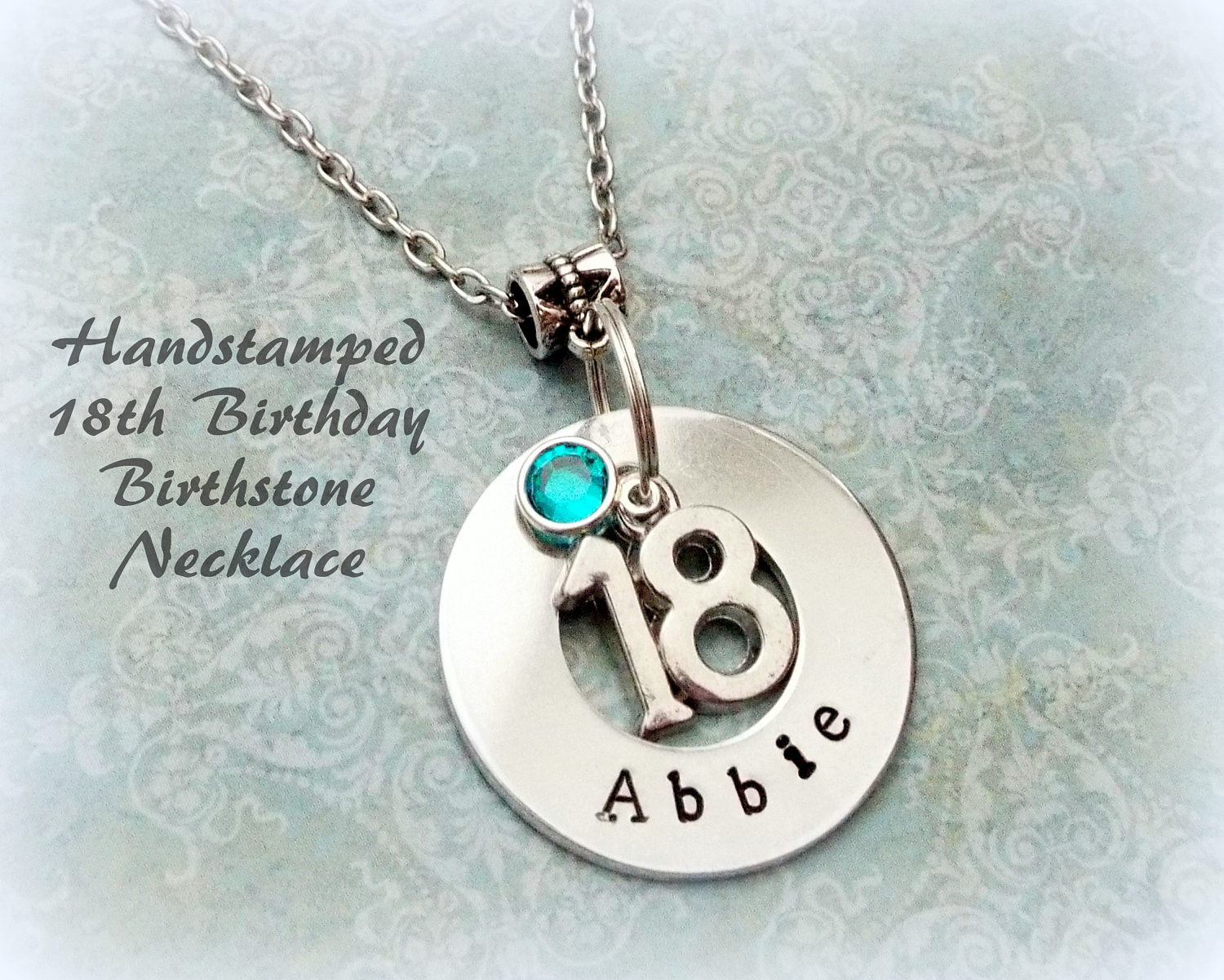 18Th Birthday Gift Ideas For Girl  18th Birthday Gift Personalized Handstamped Girl