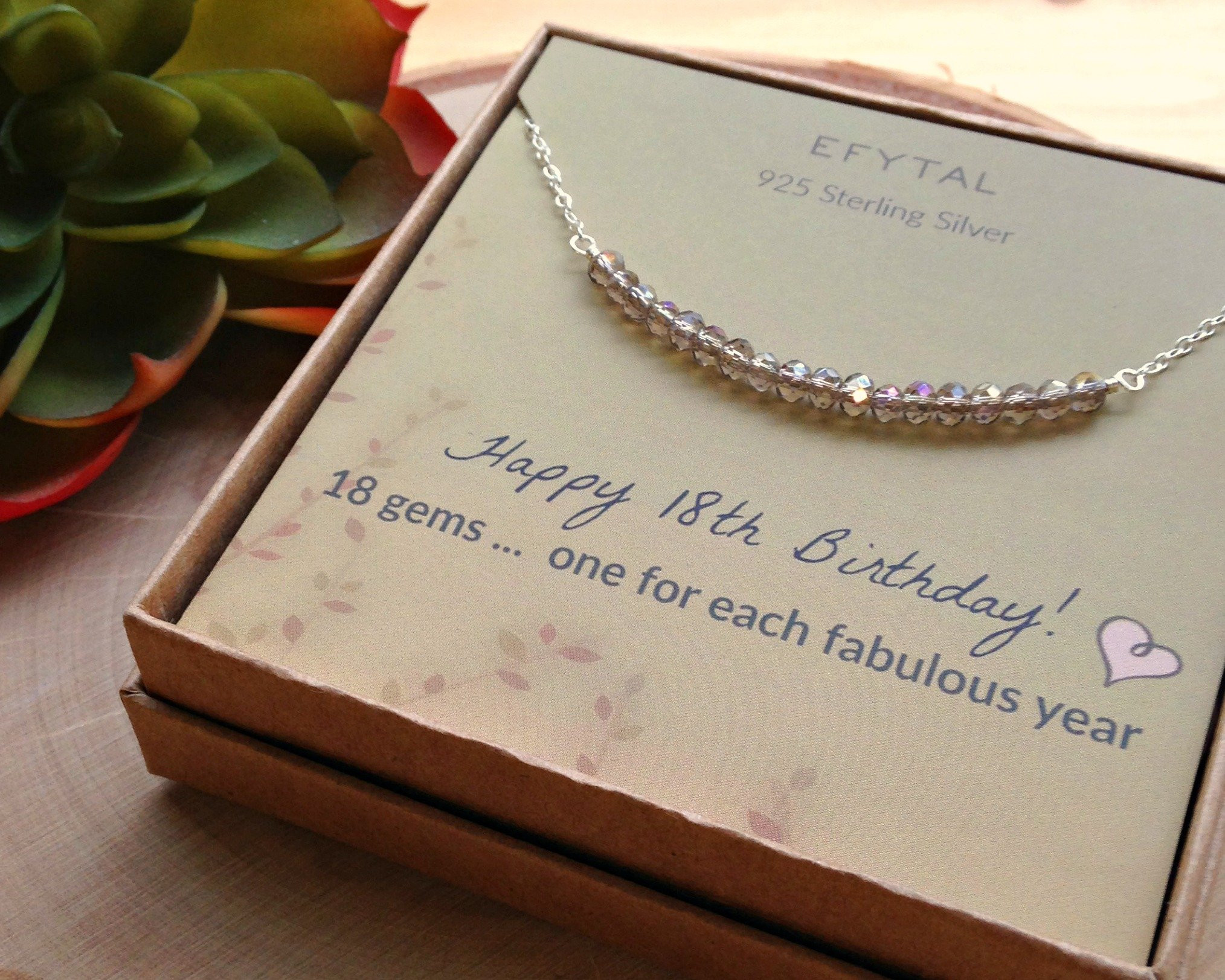 18Th Birthday Gift Ideas For Girl  18th Birthday Gifts for Girls Sterling Silver Necklace