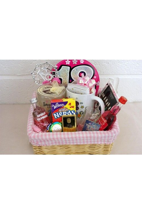 18Th Birthday Gift Ideas For Girl  Personalised 18th Birthday Girls Alcohol Gift Basket