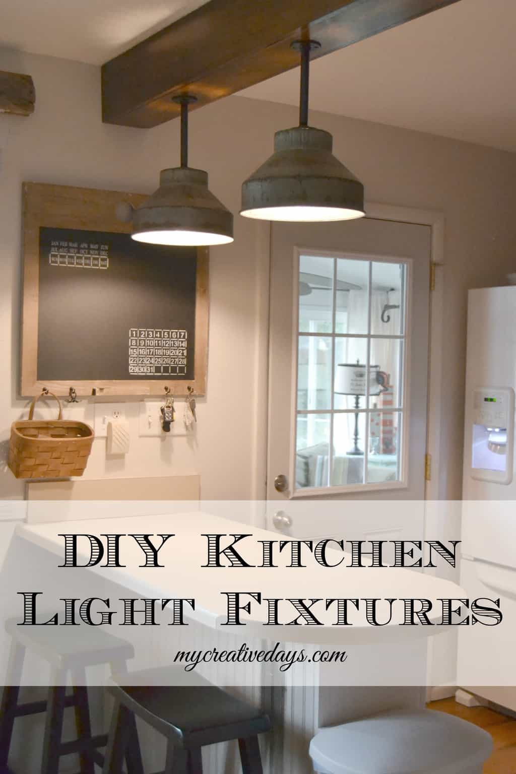 1950'S Kitchen Light Fixtures  DIY Kitchen Light Fixtures Part 2 My Creative Days