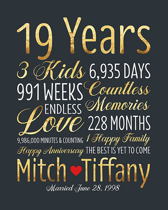 19Th Wedding Anniversary Gift Ideas For Him  19 Year Wedding Anniversary Gift Design Collection