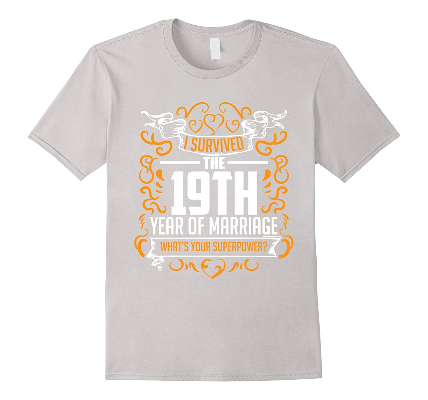 19Th Wedding Anniversary Gift Ideas For Him  19th Wedding Anniversary Gifts 19 Year T Shirt For Her Him