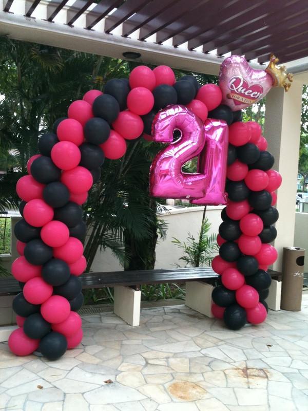 21st Birthday Decorations  21st Birthday party Balloon Ideas – BalloonParty – Blog