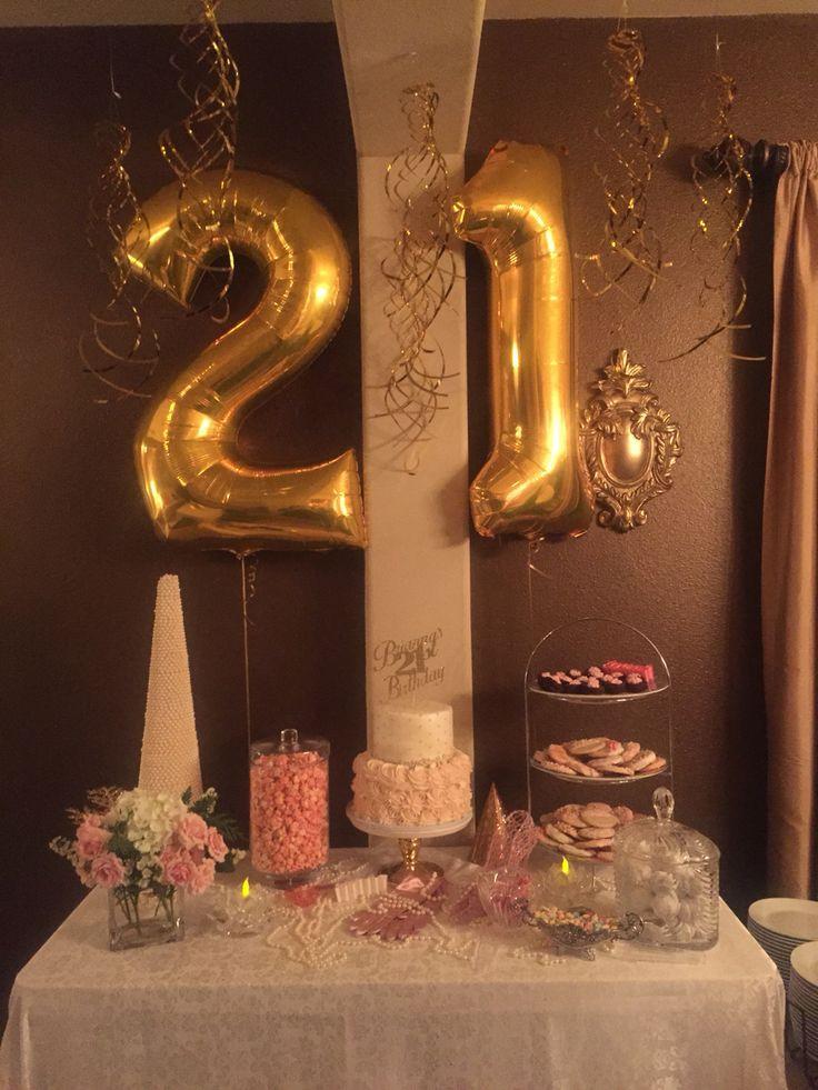 21st Birthday Decorations  The 25 best 21st birthday themes ideas on Pinterest