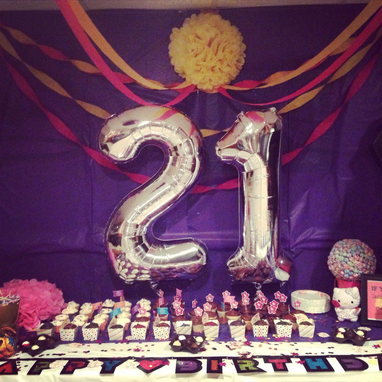 21st Birthday Decorations  The 25 best 21st birthday decorations ideas on Pinterest