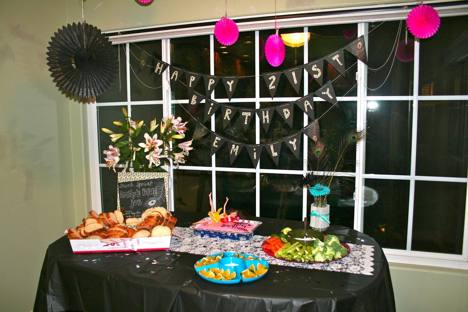 21st Birthday Decorations  Champagne Taste Shoestring Bud 21st Birthday Party