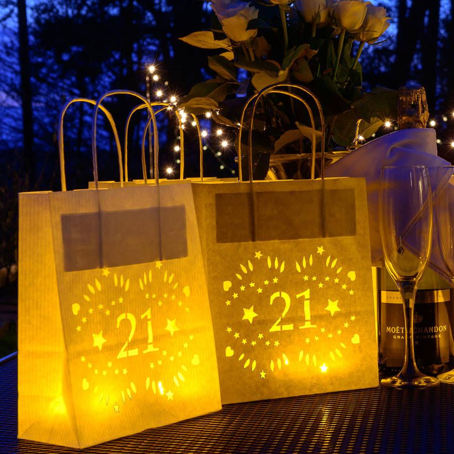 21st Birthday Decorations  21st birthday paper lantern bag party decoration by