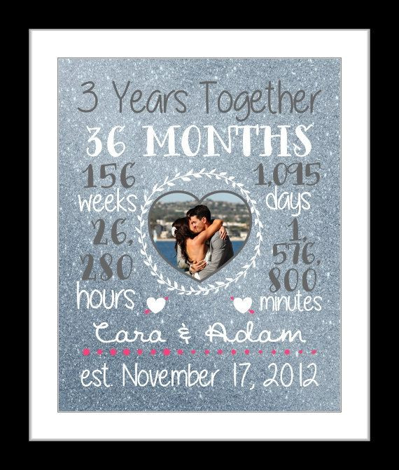 3 Year Anniversary Gift Ideas For Husband  Any 3 Year Anniversary Gift 3 Year Wedding Anniversary