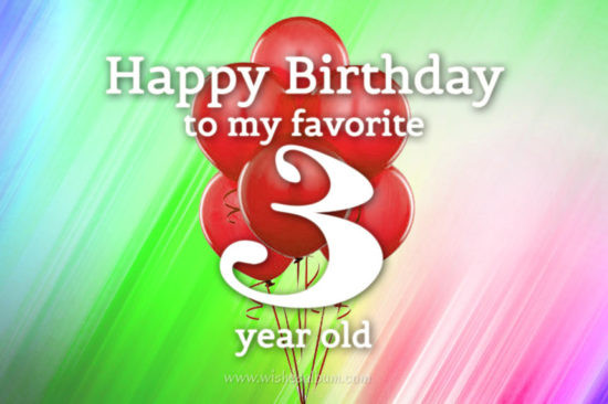 3 Year Old Birthday Quotes  3rd Birthday Wishes Happy Third Birthday