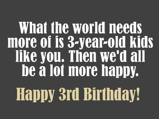 3 Year Old Birthday Quotes  3rd Birthday Messages and Poems to Write in a Card