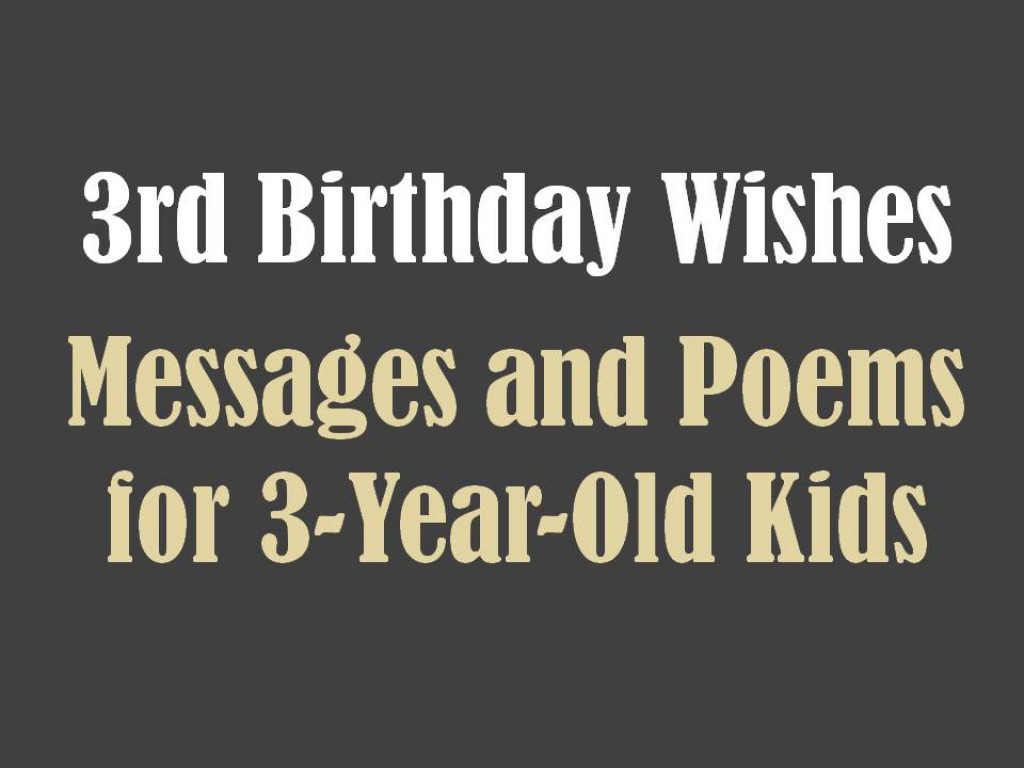 3 Year Old Birthday Quotes  3rd Birthday Messages Wishes and Poems