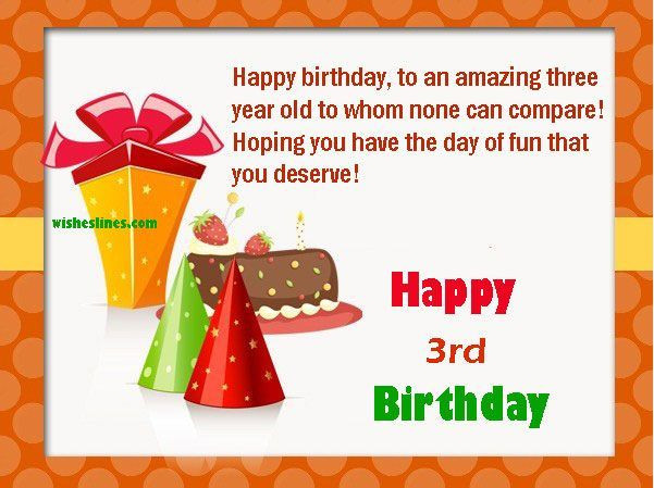 3 Year Old Birthday Quotes  Happy 3rd birthday quotes Send some beautiful birthday