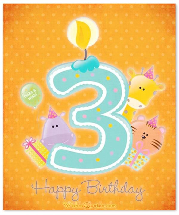 3 Year Old Birthday Quotes  3rd Birthday Wishes By WishesQuotes