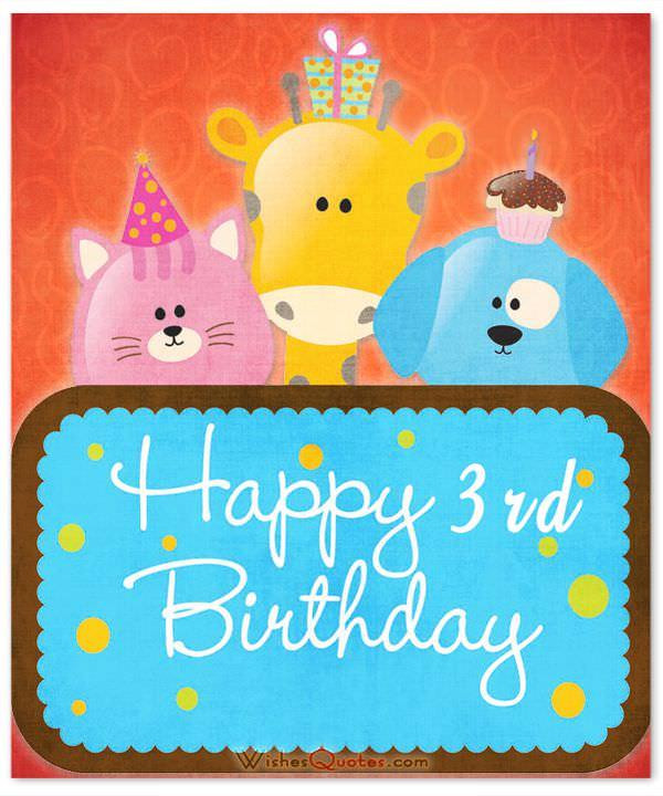 3 Year Old Birthday Quotes  3rd Birthday Wishes