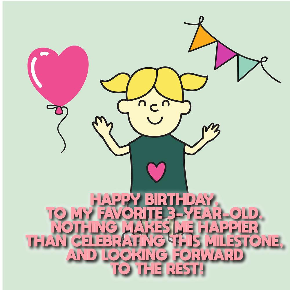 3 Year Old Birthday Quotes  Happy 3rd birthday Wishes Messages for kids – Top Happy