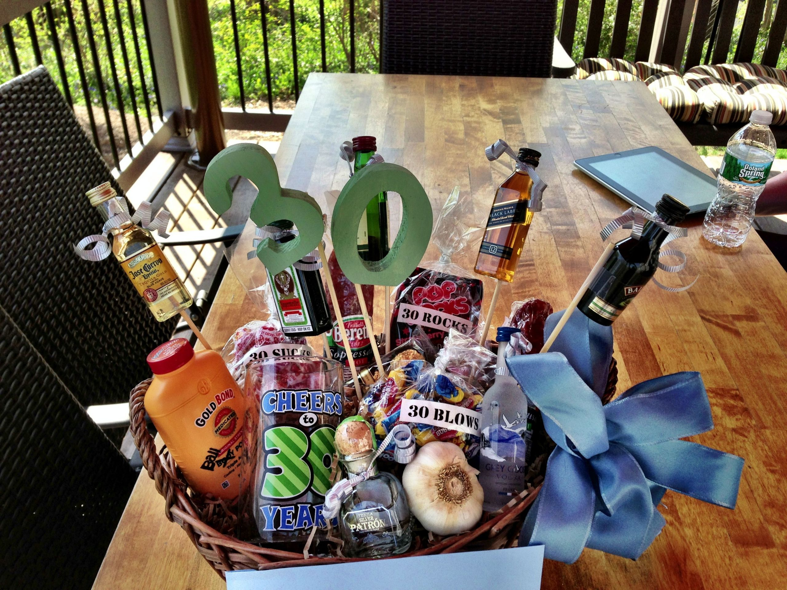 30Th Birthday Gift Ideas For Him  30th Birthday Gift Basket for him my italian cousin