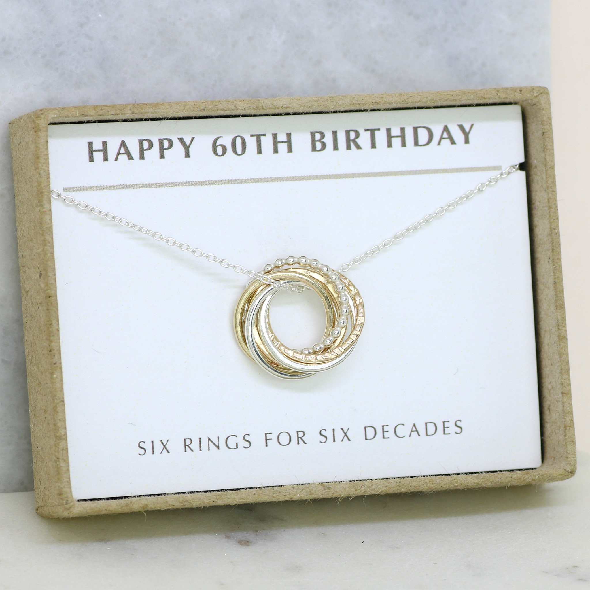 60Th Birthday Gift Ideas For Her  60th birthday t for her 60th birthday necklace 60th