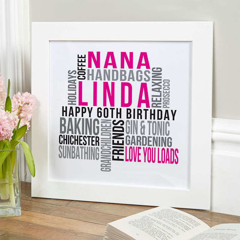 60Th Birthday Gift Ideas For Her  Personalized 60th Birthday Gifts For Her