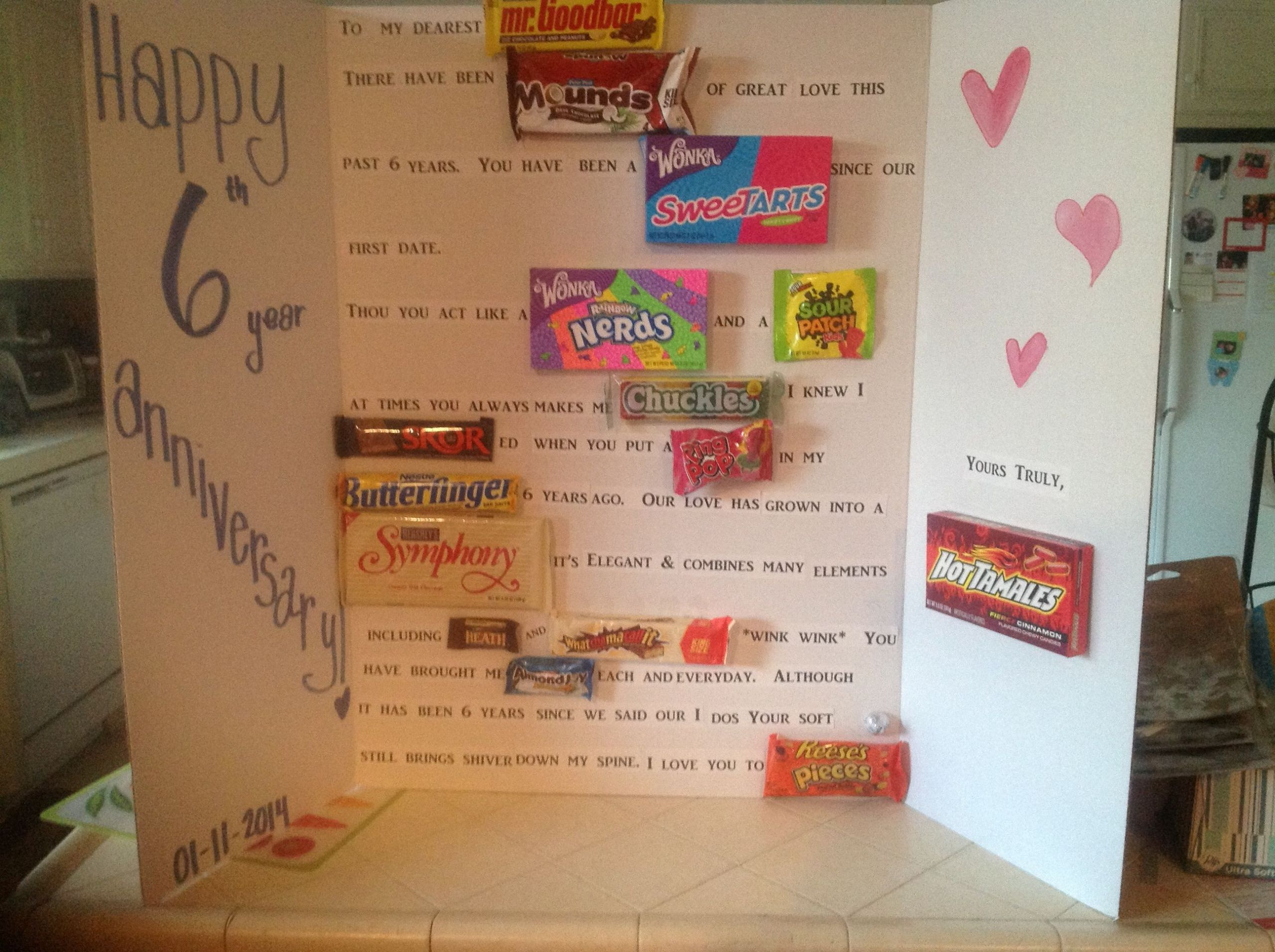 6Th Wedding Anniversary Gift Ideas For Her  6 year wedding anniversary traditional t candy or