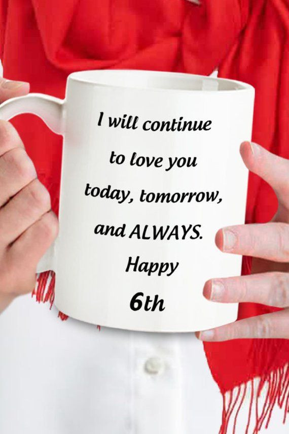 6Th Wedding Anniversary Gift Ideas For Her  6th Anniversary Gift For Her 6th Anniversary Gifts Mug For