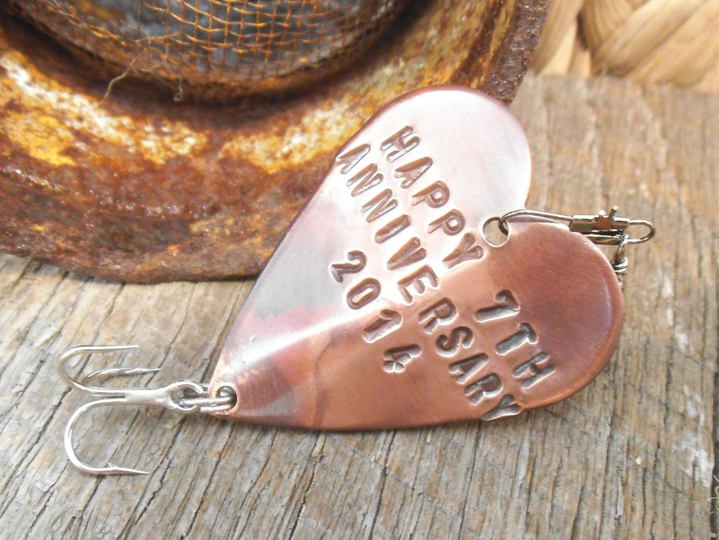 7Th Anniversary Gift Ideas For Him  Seventh Anniversary 7th Wedding Anniversary Lucky 7 Copper