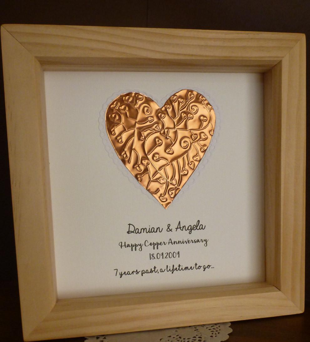 7Th Anniversary Gift Ideas  7th wedding anniversary t copper anniversary t 7th