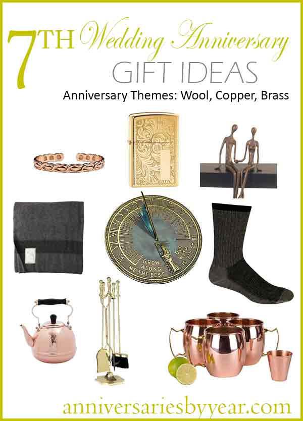 7Th Anniversary Gift Ideas  7th Anniversary Seventh Wedding Anniversary Gift Ideas