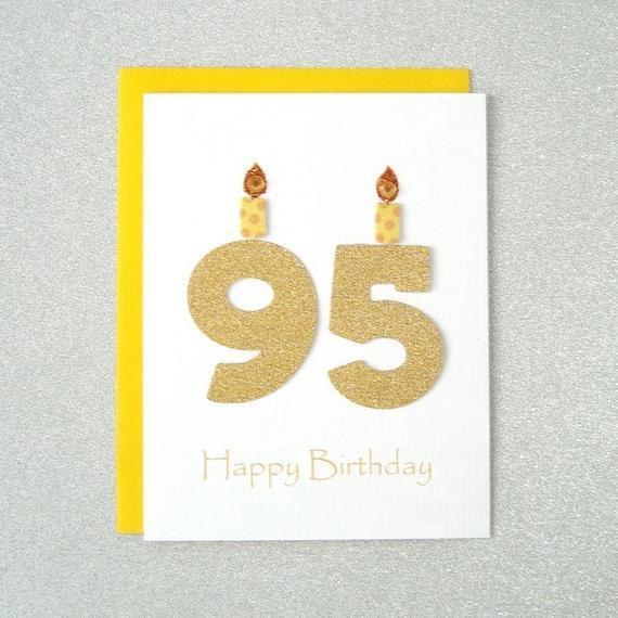 95Th Birthday Gift Ideas  95th Birthday Card 95th Milestone Birthday Card 95th