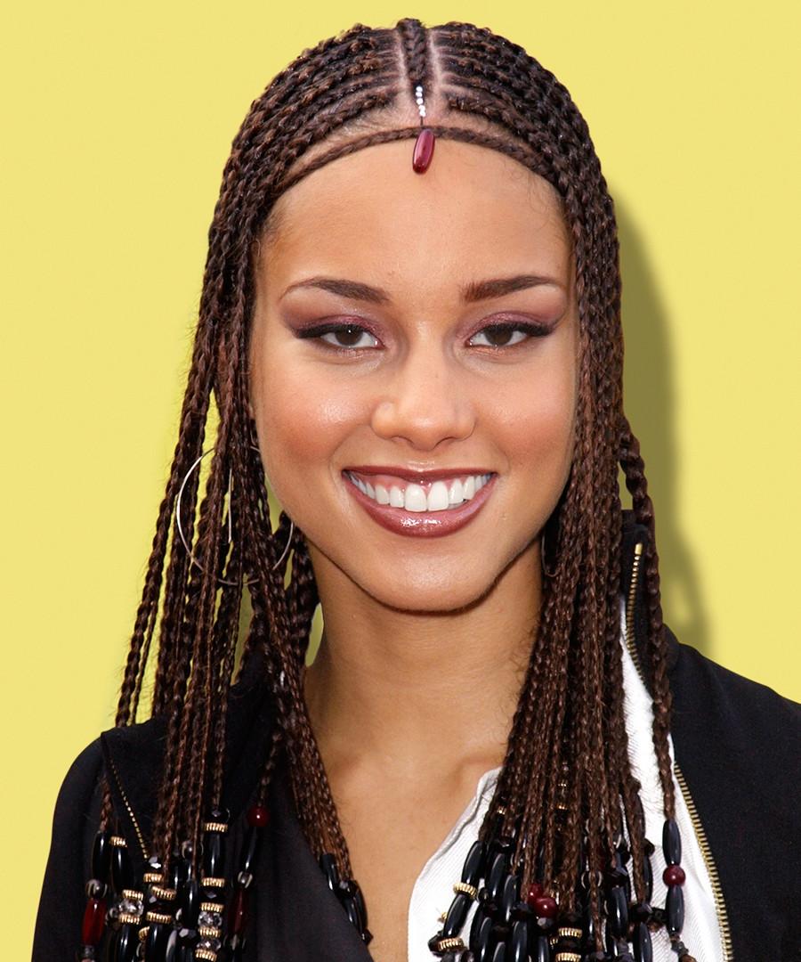 Alicia Keys Braids Hairstyles  See Alicia Keys s Stunning Beauty Evolution