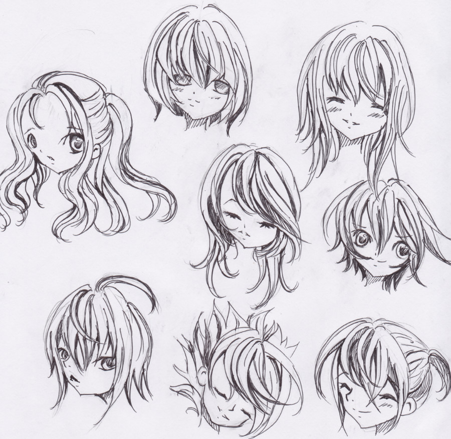 Anime Hairstyle  Cute Anime Hairstyles trends hairstyle