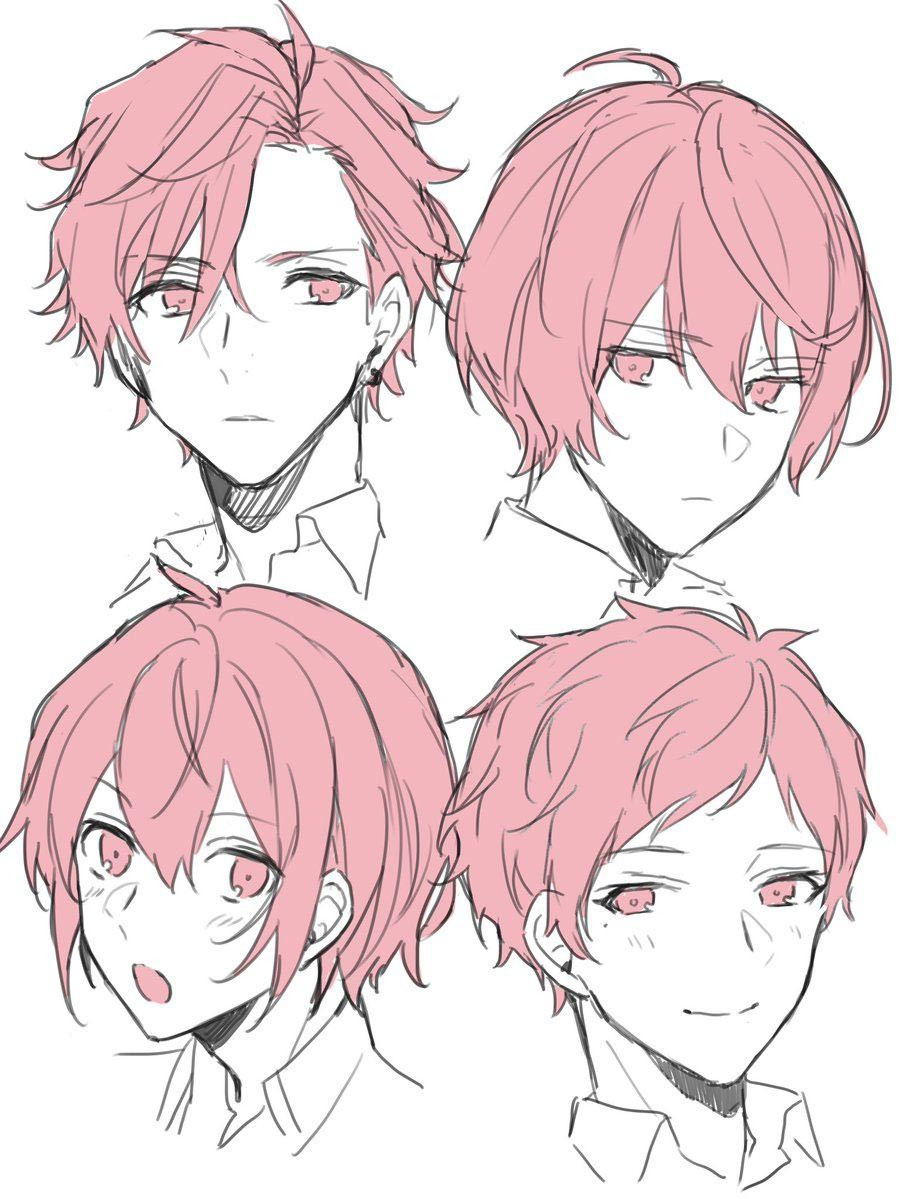 Anime Hairstyle  Anime Hair Drawing Reference and Sketches for Artists