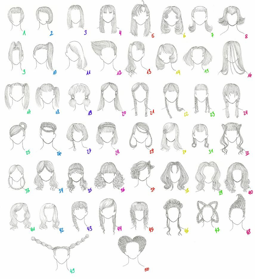 Anime Hairstyles For Girls  50 Female Anime Hairstyles by AnaisKalinin on DeviantArt