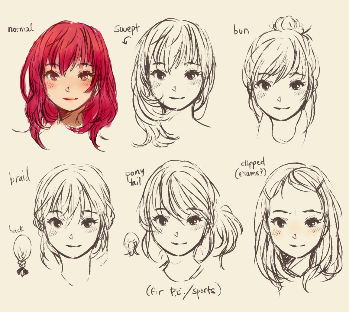Anime Hairstyles For Girls  My Style Doodles Ridley s Bloggie