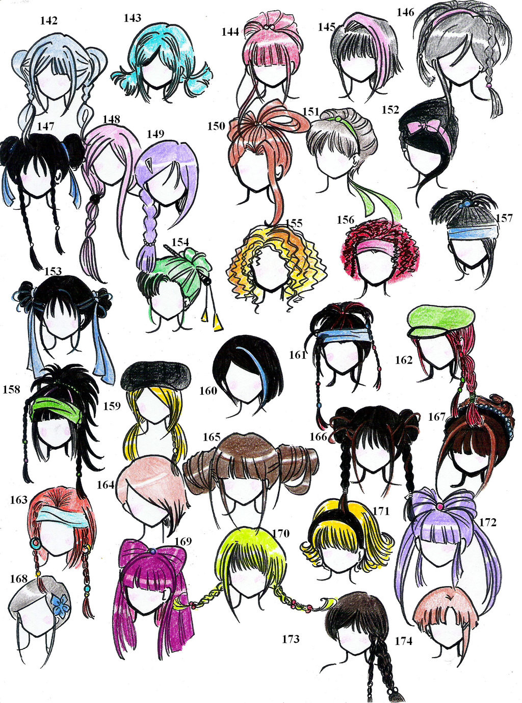 Anime Hairstyles For Girls  Anime Style Hair