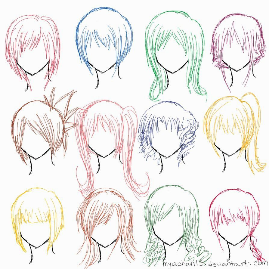 Anime Hairstyles For Girls  Girl Hairstyle Drawing at GetDrawings