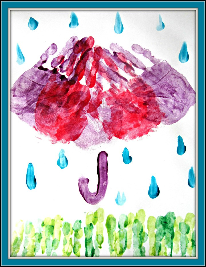 April Crafts For Toddlers  April Showers Finger Paint Kids Craft Mom it Forward