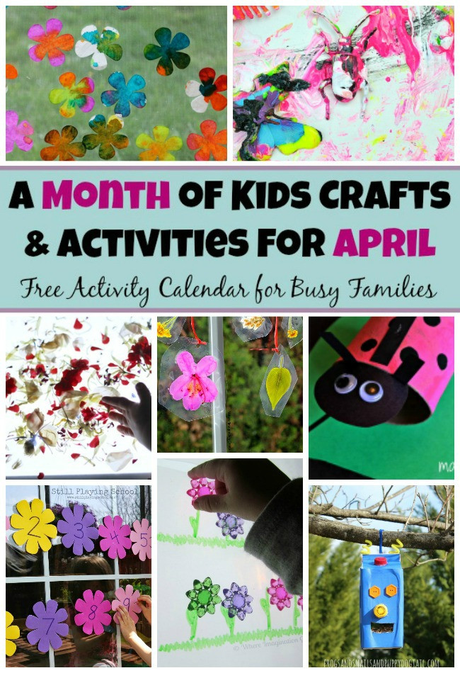 April Crafts For Toddlers  30 Spring Preschool Crafts & Activities For April Where