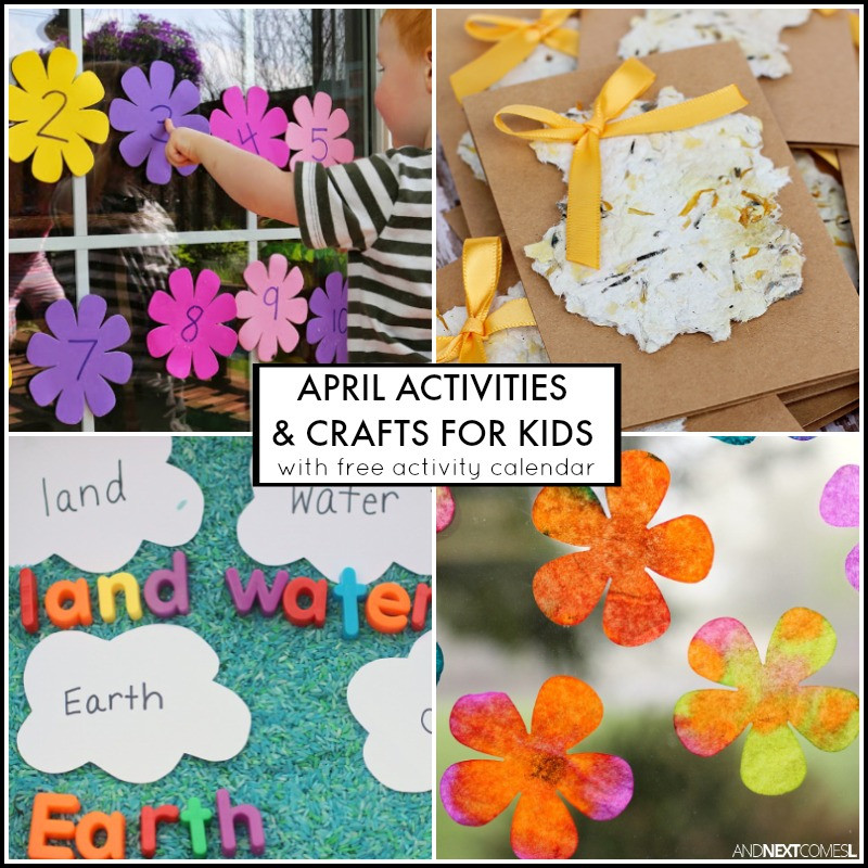 April Crafts For Toddlers  30 April Activities for Kids Free Activity Calendar