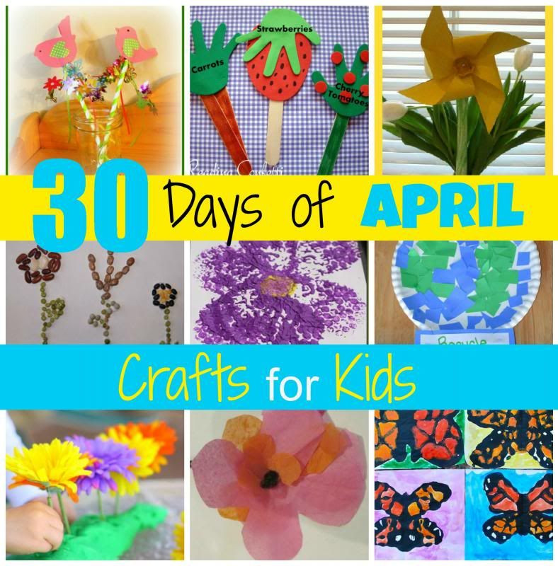 April Crafts For Toddlers  Mamas Like Me 30 Days of April Crafts for Kids