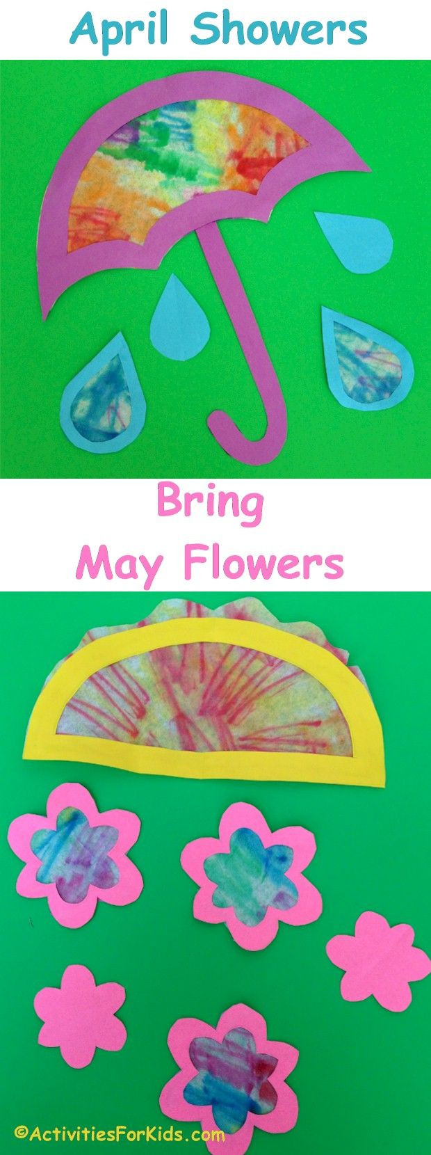 April Crafts For Toddlers  April Showers Bring May Flowers