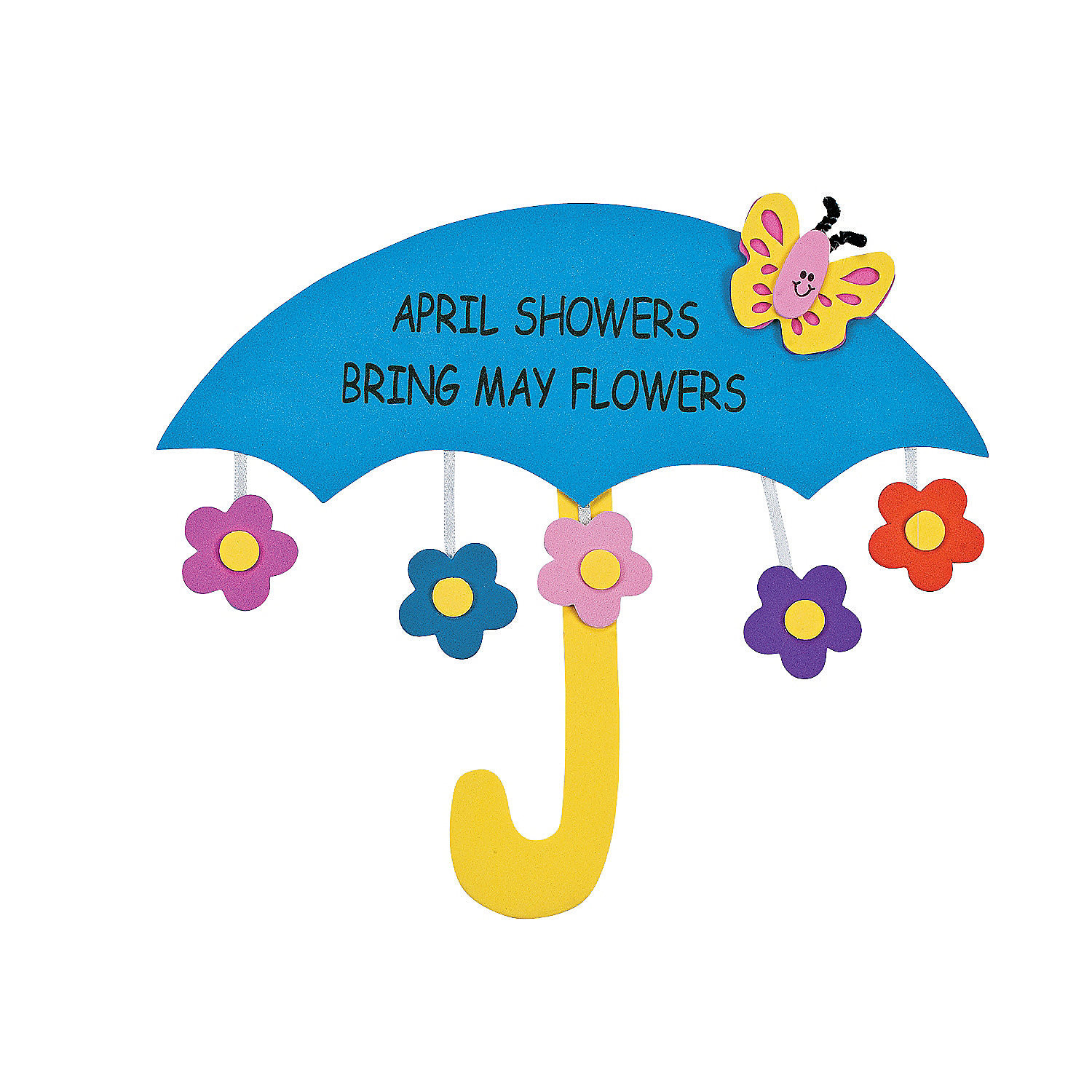 April Crafts For Toddlers  April Showers Bring May Flowers Sign Craft Kit Oriental