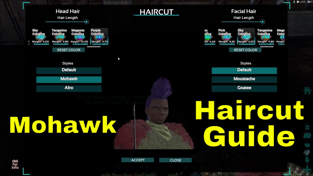 Ark Female Hairstyles  ARK Haircut guide First time using the Scissor Mohawk