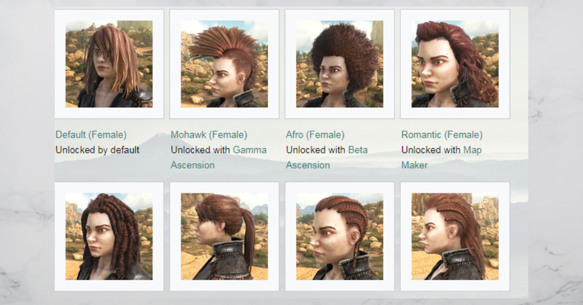 Ark Female Hairstyles  Different Types of Ark Hairstyles How To Obtain It
