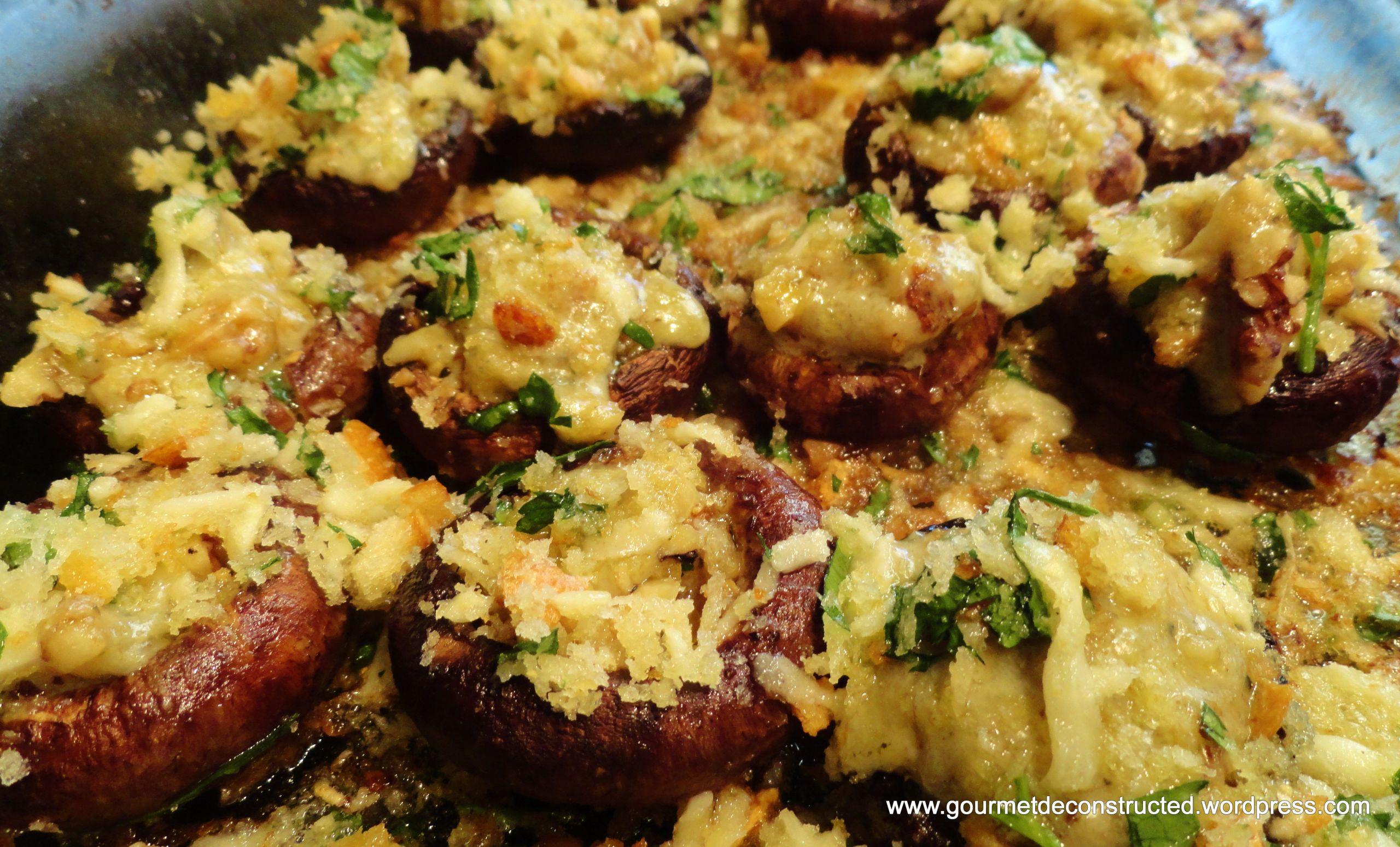 Baby Bella Mushrooms Recipes  Meatless Mondays Baked Stilton Walnut Stuffed Baby Bella