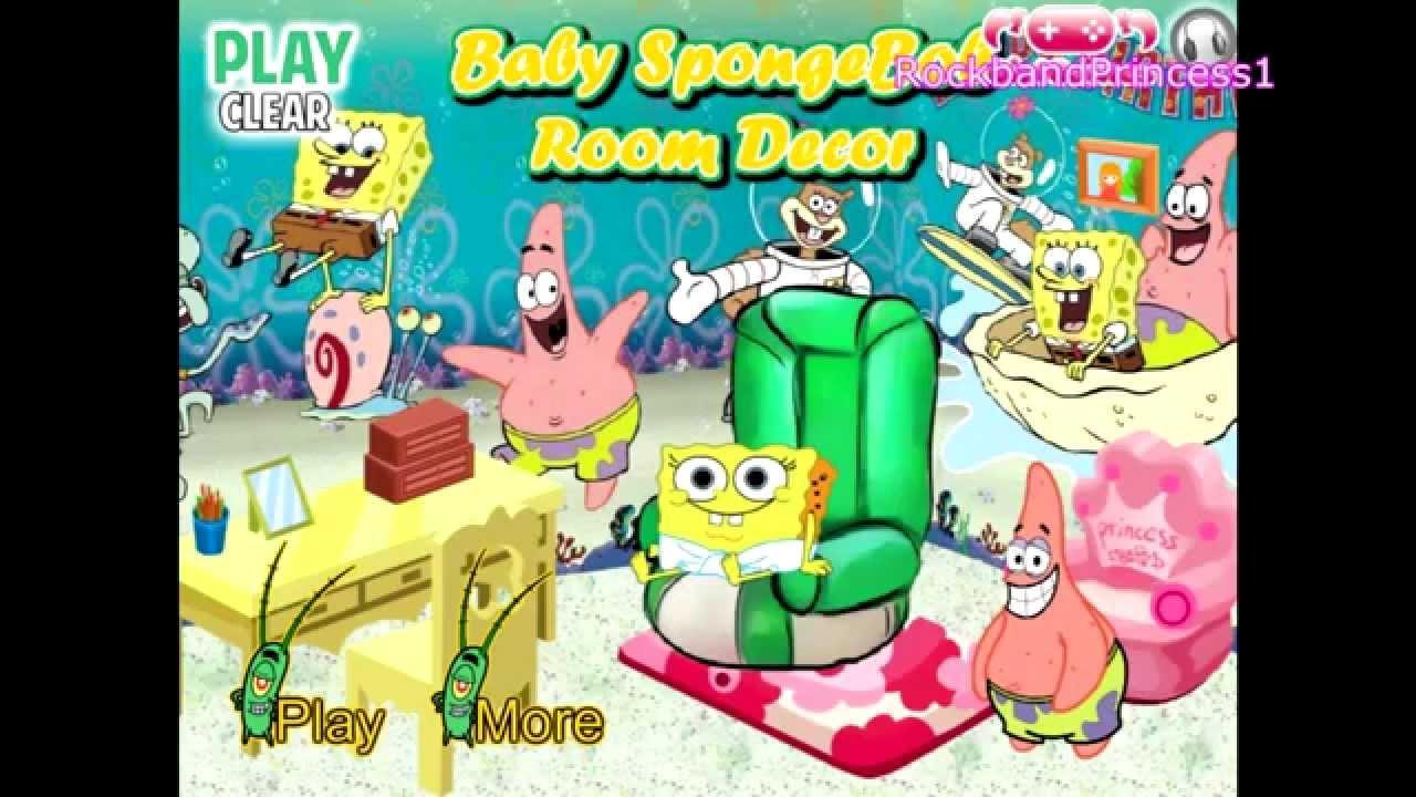 Baby Room Decorating Games  Spongebob Squarepants Baby Room Decor Play Kids Games