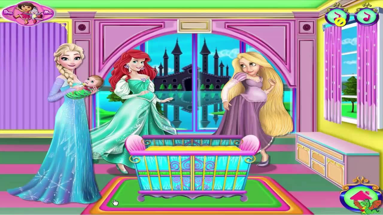 Baby Room Decorating Games  Princesses Baby Room Decor Game Disney Princess Video