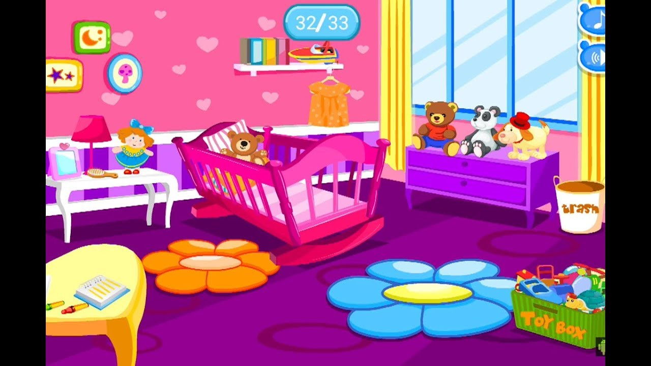 Baby Room Decorating Games  Fun Baby Games Care Baby Room Cleanup Fun Makeover
