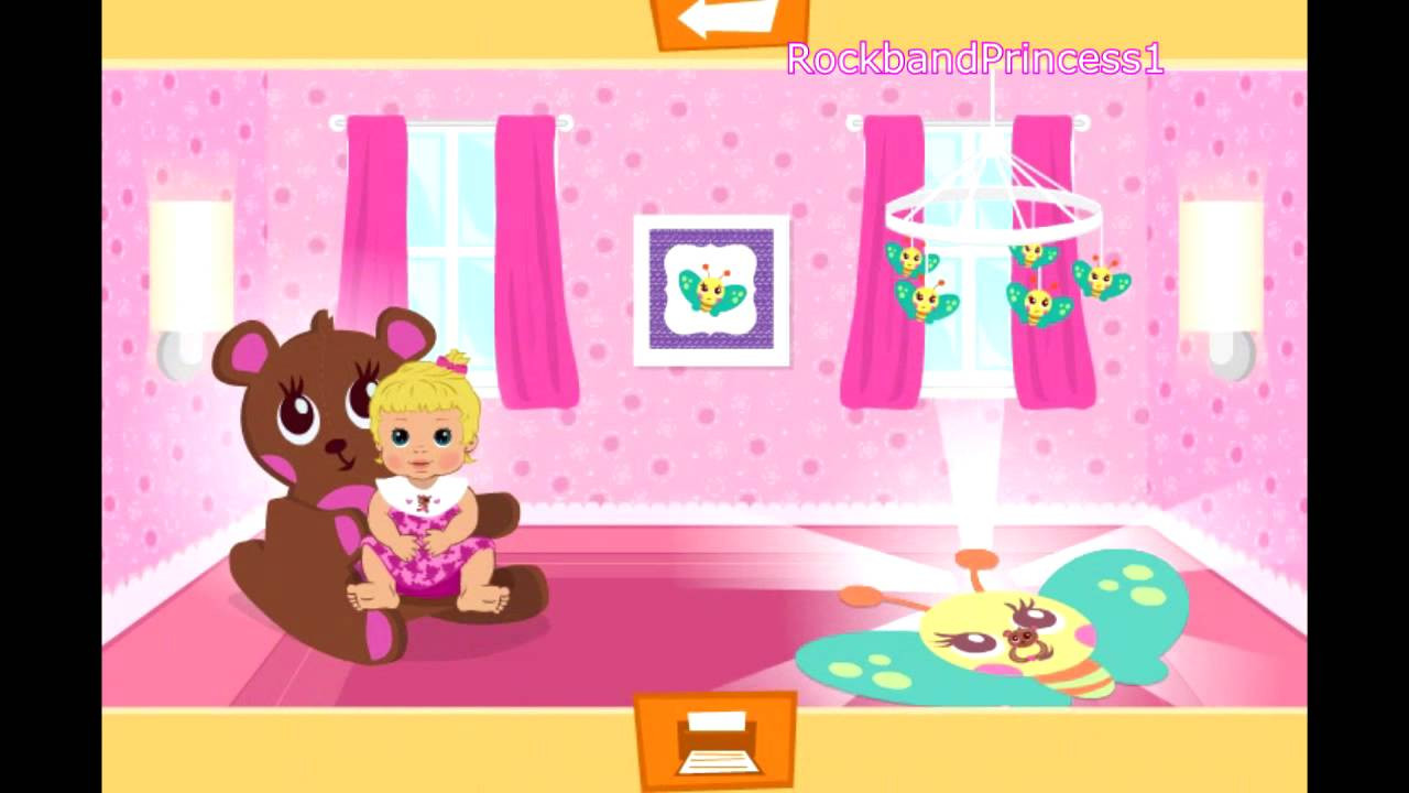 Baby Room Decorating Games  Baby Games Baby Room Decoration Game Free Girls Games