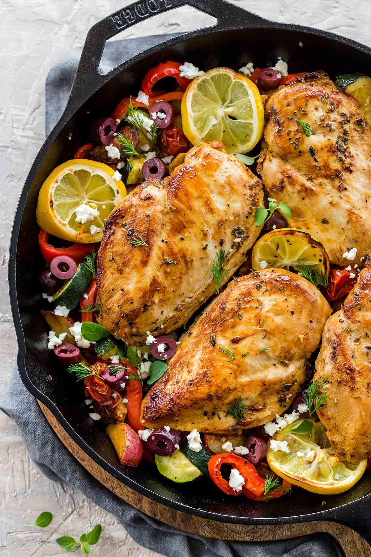 Baked Greek Chicken Recipe  Greek Chicken with Roasted Potatoes Jessica Gavin